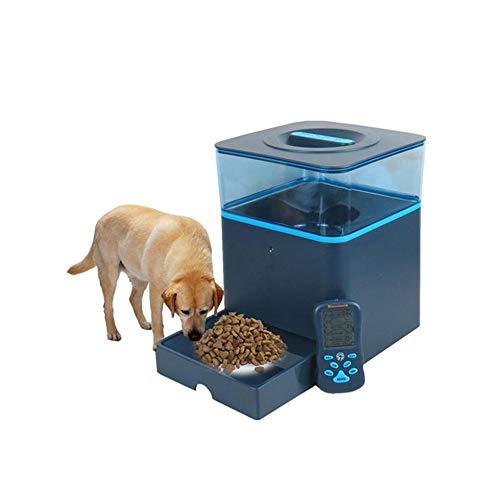 WHL.LL Automatischer Tierfutterautomat, Spender Hund Katze Funktion Alarm Zuweisen Und Aufnahme, Unterstützbar Drahtlose Fernbedienung Bluetooth Zubringer -