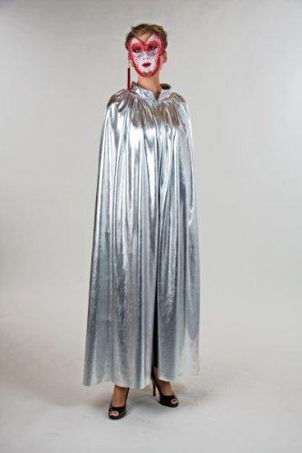 Festartikel Hirschfeld Umhang Cape Tunika Silber Einheitsgröße (Total Verrückt Kostüm)