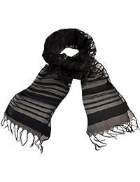 Toutacoo, Women's Silk Scarf Black