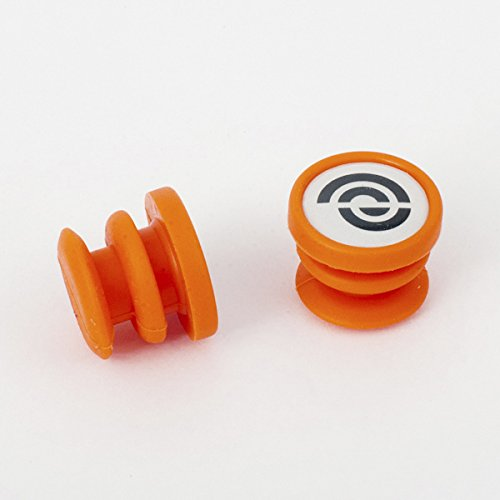 Bike Ribbon BikeRibbon Silikon End-Plugs Jelly, orange (Paar) Lenkerband, Standardgröße Preisvergleich