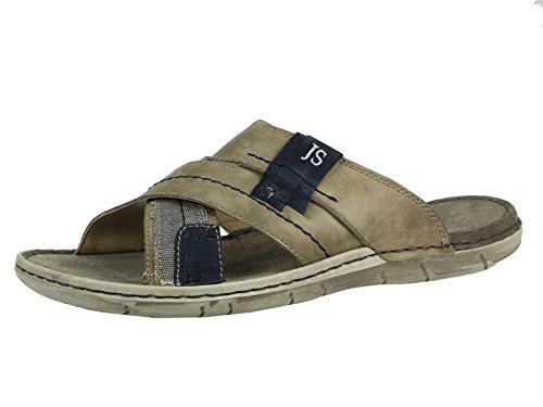 JOSEF SEIBEL - Paul 13 - Herren Pantoletten - Grau Schuhe in Übergrößen, Größe:47