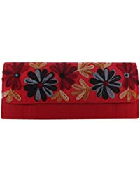 Mela Kashmiri Embroidered, Exclusive, Traditional, Ethnic Women`s Clutch-Red
