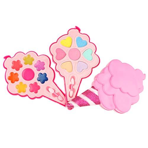 KESOTO Mini Tragbare Kinder Kosmetikset Make-up Palette Spielzeug für Mädchen - A
