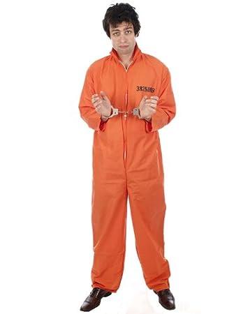 amazon costume. mens prisoner convict costume orange x large amazoncouk toys u0026 games amazon u