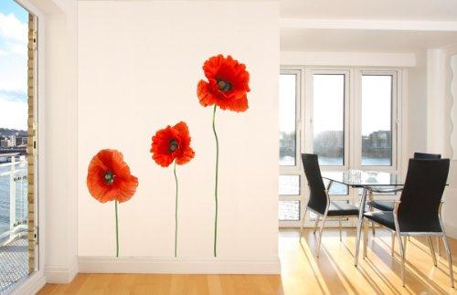 Wandsticker Mohnblume Nr. 204 Bunte Wandaufkleber Wandgestaltung Deko