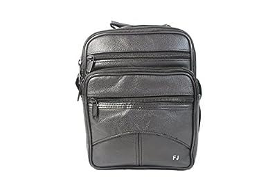 Frédéric&Johns ® - Sacoche bandoulière homme très pratique en cuir de vachette - énormément de compartiments - bandoulière réglable et ajustable - idéal pour se promener, voyager - haute qualité