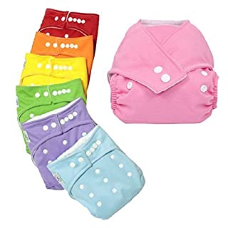 Aubig 20 Pcs Baby Infant Adjustable Reusable Cloth Diaper Cover Pure Washable Nappies Size Adjustable