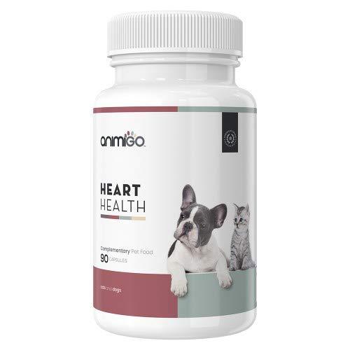 Animigo Heart Health 90 Kapseln Gesunde Herz Ergänzung für Katzen und Hunde