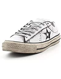 d72ce90be84c Converse Scarpe Uomo One Star Distressed Leather Ltd - Bianco