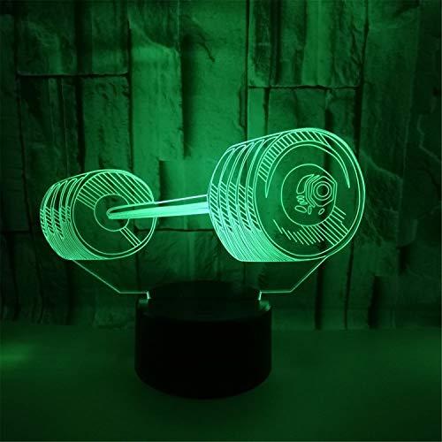 Road&Cool Beleuchtung Lichter Lampen Gewichtheben 3D Hantel LED Fußball Taekwondo Tennis Geschenk USB Nachtlicht Schlafzimmer Dekoration Schreibtisch Tischlampe (22 * 15 * 5cm) -