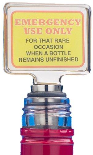 Boxer Weinflaschenverschluss mit Schild Emergency Use Only - Keeper Mother