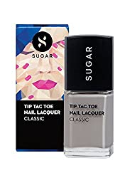 SUGAR Cosmetics Tip Tac Toe Nail Lacquer 069 Graduation Grey (Pastel Grey�), 10 ml
