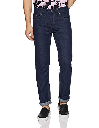 Amazon Brand - Symbol Men's Relaxed Fit Jeans (AV-RG-01_Dark Blue_38W x 32L)