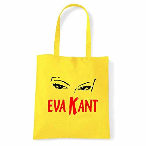 Art T-shirt, Borsa Shoulder Eva Kant Diabolic, Shopper, Mare Giallo