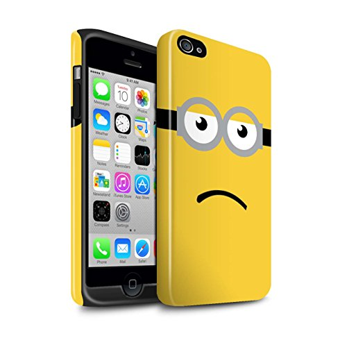 STUFF4 Glanz Harten Stoßfest Hülle / Case für Apple iPhone 4/4S / Kevin/Traurig Muster / Süßer Minion Inspiriert Kollektion (Despicable Me Iphone 4 Fall)
