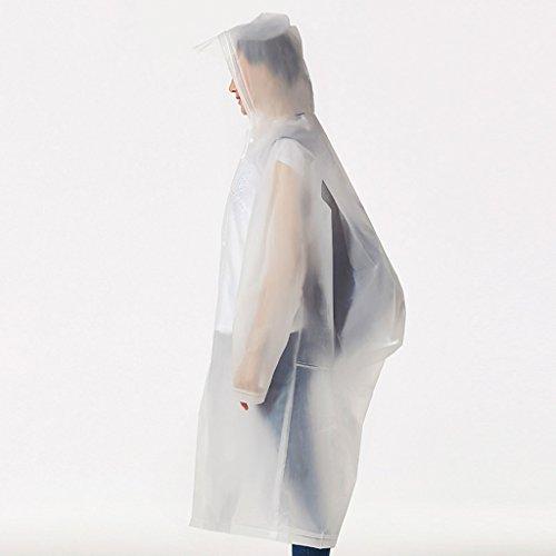 Erwachsener Mann Und Frau Im Freien Bergsteigen Tour Transparente Dünne Abschnitt Regenmantel Geschmacklos ( farbe : S , größe : Xl ) O