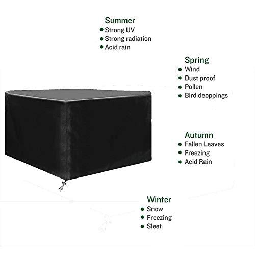 NINGWXQ Gartenmöbel-Abdeckung, wasserdicht, atmungsaktiv, Oxford-Organisation, verblasst Nicht, rechteckig, 2 Farben, Verschiedene Größen, Synthetikfaser, Schwarz, 70×70×70cm