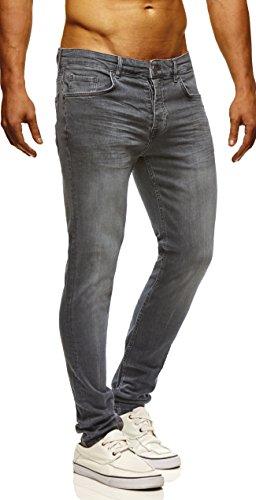LEIF NELSON Herren Hose Jeans Jeanshose Freizeithose Denim LN722GR; W29L32, Dunkel Grau (Jeans Hose Dunkle)