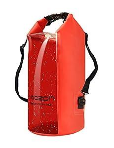 Sac étanche, Yoozon Imperméables Nautiques Sac Etanche plongée/à l'eau Sac à dos Sac Sec Dry Bag pour le canotage, la randonnée, Camping, pêche, Nage, et autres activités en plein air (Rough, 30L)