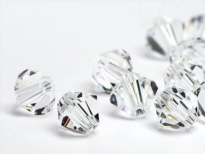 Glasperlen zum Auffädeln von Swarovski Elements Doppelkegel 2.5mm  (Crystal), 96 Stück