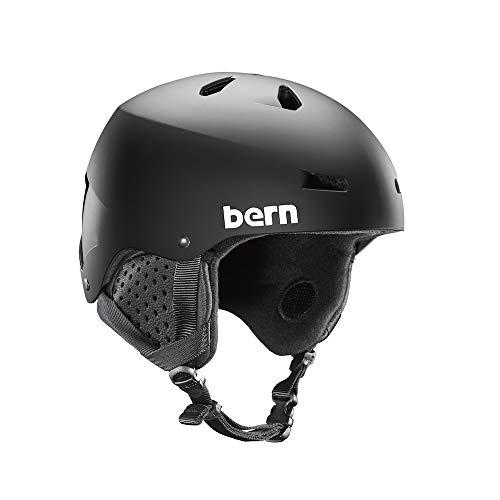 Bern Casco SM02M17MBK3Macon Invernale da Uomo, Colore: Nero Opaco, Grande