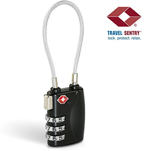 TSA Cable Lock - 3 Digit Combination [Zinc Alloy