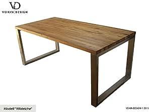 Esstisch massivholz edelstahl serie munich tisch holz for Tisch koffer design