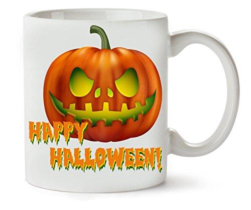 Happy Halloween Angry Pumpkin Klassische Teetasse Kaffeetasse