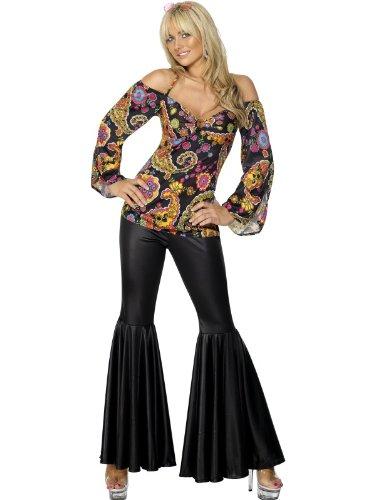 Hippie Kostüm Weiblich - Kostüm Hippie, weiblich, mit gepolstertem Oberteil und Schlaghose
