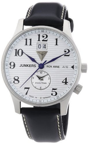 Junkers Men's Quartz Watch Iron Annie JU52 66401 with Leather Strap