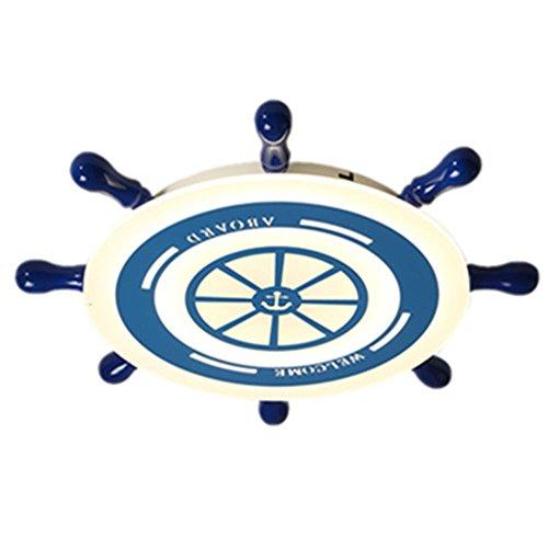 r Kinder Deckenleuchten Deckenbeleuchtung Mittelmeer Kinder Raumbeleuchtung Ideen blaue Einfachheit Cartoon Ruder Junge Schlafzimmer Lampe Baby Auge Deckenleuchte 78CM (Malerei Ideen Für Kinder)