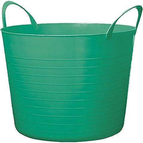Jardín cesta flexible 40L emereld de color verde