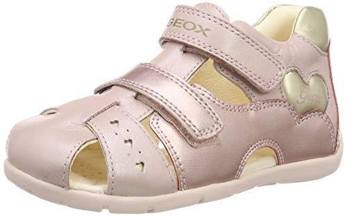 Geox Baby Mädchen B KAYTAN A Sandalen Pink (Dk Rose/Gold C8252) 23 EU