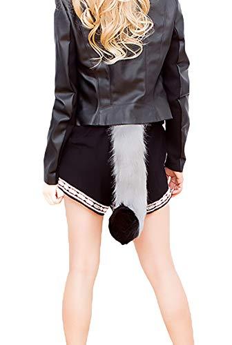 Halloween Kostüme Damen Cosplay Schwanz Katze Einstellbar Elegante Outfit Fashion Festlich Bekleidung Hübsch Schweifanhänger Faschingskostüme (Color : Gelb, Size : One Size)