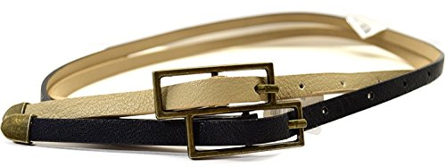Brown Skinny Belt (Steve Madden Brown Taupe Skinny 1/4 Belt X-small)