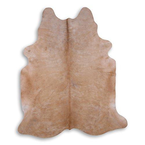 Premium Kuhfell-Teppich - L248 x B210 cm - sand braun creme - einmaliges Naturprodukt aus Südamerika