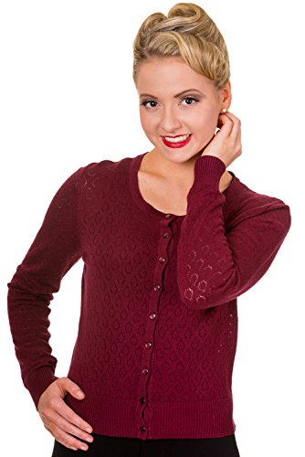 Banned Strickjacke WATCH OUT CARDIGAN 368 Rot L
