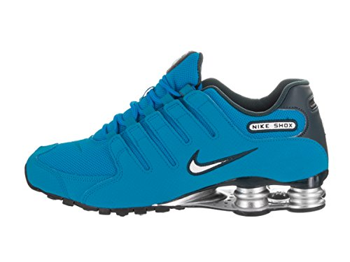 Nike Mens Shox NZ Mesh Trainers Blue
