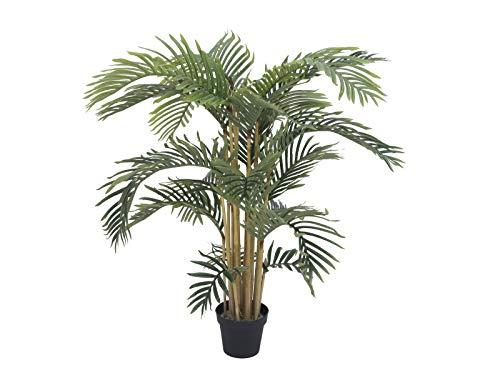 artplants Set 'Kunststoff Areca + Gratis UV Schutz Spray' - Künstliche Palme NOJA, grün, 140 cm