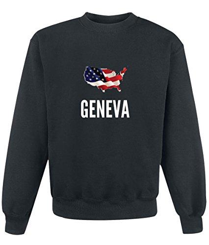Preisvergleich Produktbild Sweatshirt Geneva city Black