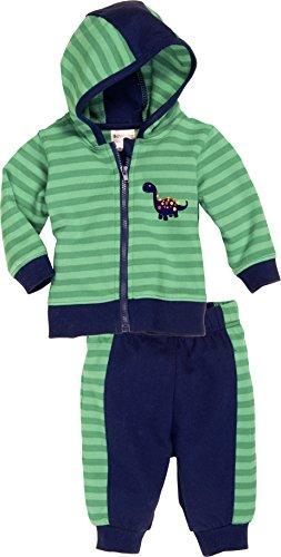 Schnizler Jungen Jogginganzug Freizeitanzug Dino mit Sweatjacke, Oeko - Tex Standard 100, Gr. 68, Grün (grün 29)