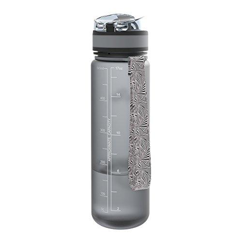 Ion8 auslaufsichere schlanke Wasserflasche / Trinkflasche, BPA-frei, 500ml / 18oz