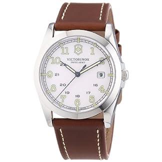 Victorinox Swiss Army 241564 – Reloj analógico de Cuarzo para Hombre con Correa de Piel, Color marrón