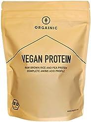 ORGAINIC Bio Natural Vegan Protein - Reis- und Erbsenprotein - Bio Zertifiziert - 700g