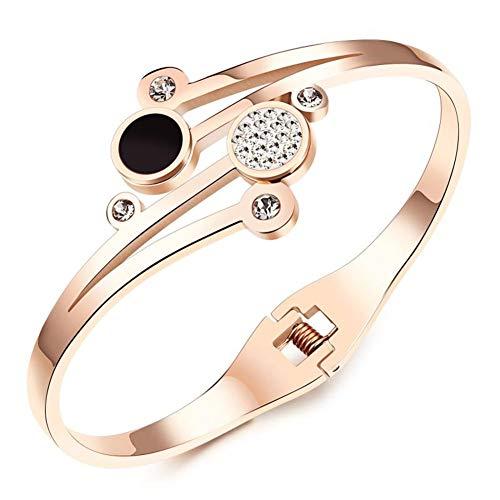 Z-Women Bracelet @ Damen-Armreif, Rotgold-Titan-Zirkonia-Liebesarmband, Ehefrau, Freundin, Mutter Am Geburtstag, Hochzeitstag Mit Geschenkbox