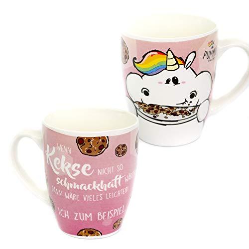 Pummeleinhorn Kaffeetasse - Kekse essen