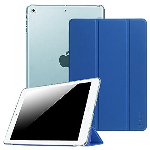 Fintie iPad Air Hülle Case - Ultra Slim Superleicht Schutzhülle mit Lichtdurchlässig Rückseite Abdeckung Smart Cover Tasche mit Auto Schlaf / Wach und Standfunktion für Apple iPad Air, Königsblau