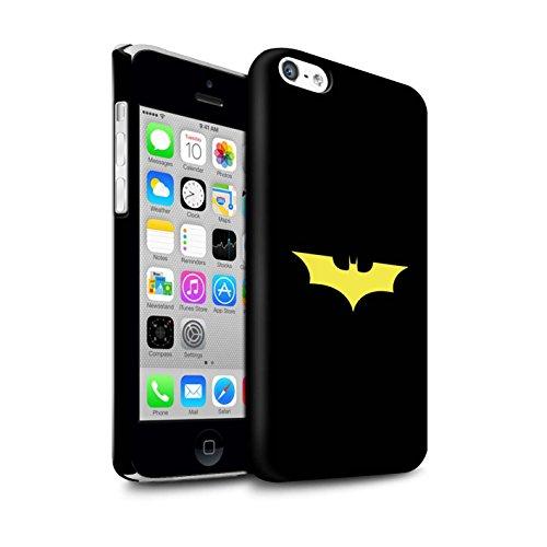 Stuff4® Matte Snap-On Hülle/Case für Apple iPhone 5C / Bat-Signal Inspiriert Muster/Minimalistische Filmkunst Kollektion (Bat 5c Phone Case)
