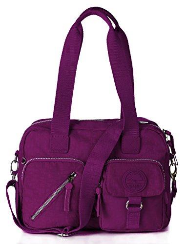 Oakarbo, Borsa a tracolla donna viola 960 Vivid violet 960 Violet red