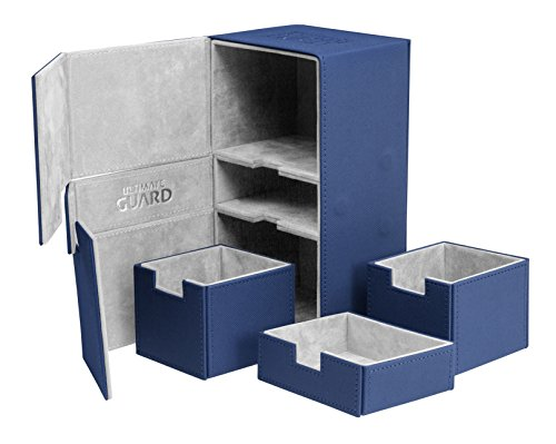 Ultimate Guard UGD010381 - Twin Flip und Tray Deck Case 200+ Standardgröße Xeno Skin, blau